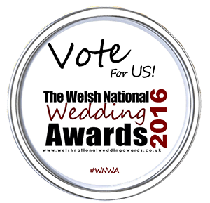 Vote for us in the Welsh National Wedding Awards 2016